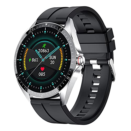 The Dragon Good Smart Watch Sport Fitness impermeable pantalla táctil completa hombres mujeres smartwatch, plata,