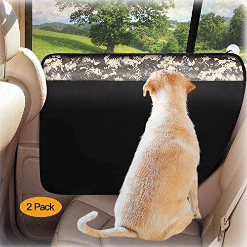 Winbate 2PCS Car Door Protector for Dogs Pet Car Door Cover-Waterproof Scratchproof Nonslip Durable Dog Car Door Protecter, Mechine Washable Pet Vehicle Door Guard (2 Packs Universal Fit)
