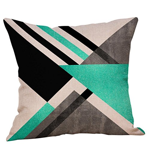Fxbar Multicolor Geometric Graphics Throw Pillow Case Glitter Sequin Sofa Waist Cushion Covers Home Decor Fashion Design (I)