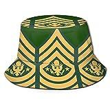 Photo de Bucket Hat,Le Sergent-Major De L'Armée Américaine Casquette De Pêche, Chapeaux De Soleil De Seau Pliable pour La Pêche en Plein Air