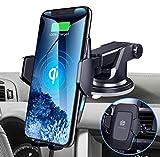 HUNDA 10W Qi Chargeur sans Fil Voiture Rapide avec QC 3.0 Chargeur de Voiture, Trou d'Aération Porte-téléphone, 7.5W pour iPhone 11/XS/XR/X/8, 10W pour Galaxy S9+/S8/Note8