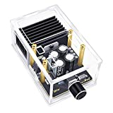 Power Amplifier Module, DROK 30W+30W Class AB Digital Audio Stereo Amp Board, DC 12V Dual Channel 2.0 TDA7377 Immersion Gold Car Speaker Amplify Chip with Case and Shielded Cable for Sound System DIY