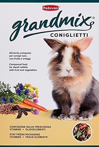Padovan Grandmix Coniglietti - Alimento Completo per conigli con frutta e ortaggi - 850 gr