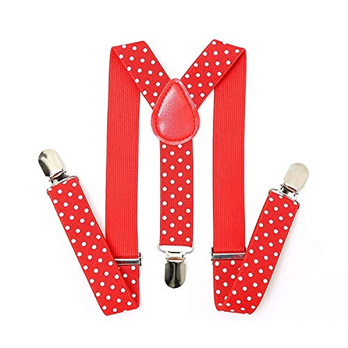 Trimming Shop À Clipser Bretelles Pantalon pour Hommes et Femmes - Unisexe Bretelles avec Réglable et Élastique - Sangles Mode Accessoire pour Fêtes,