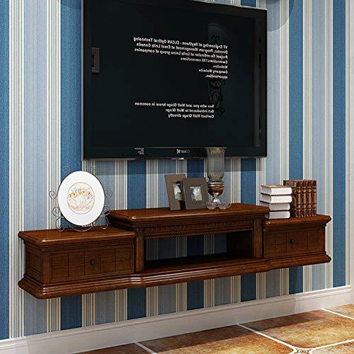 SXFYZCY TV-Schrank Massivholz Wohnzimmer Hintergrund Wandschrank Wand TV-Schrank Kreative Set-Top-Box Rack Einfache hängende TV-Schrank