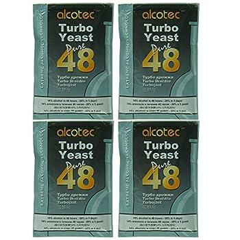Alcotec 48 Hour Turbo Yeast  Pack of 4