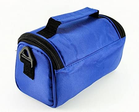 Full Dreamy Blue Denim TGC /® Camera Case for Fujifilm FinePix S8000fd with shoulder strap and Carry Handle