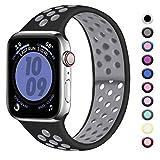 Zekapu Sport Bracelet Compatible avec Apple Watch 42mm 44mm, Remplacement en Silicone Souple Respirant pour iwatch Series...