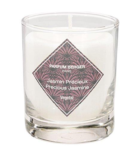 Lampe Berger Modern Line Jasmin précieux Bougie parfumée, Verre, Blanc, 10 x 10 x 10 cm