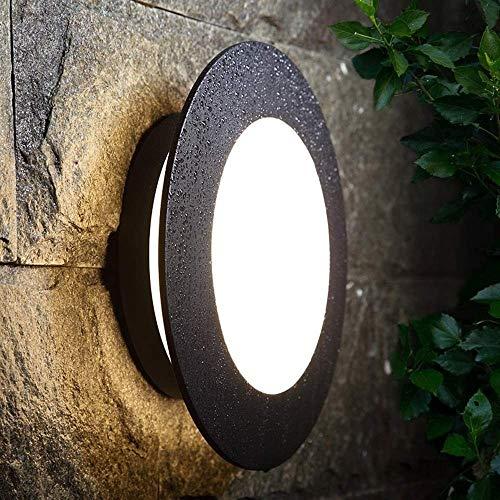 Europees waterdichte aluminium anti-roest wandlamp muur bevestigde verlichting decoratie wandlampen wandlamp creatieve ronde in de vrije wandlamp