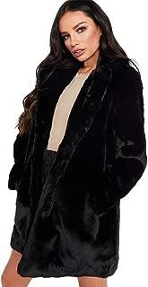 Women's Lady Womens Warm Long Faux Fur Coat Jacket Parka Outerwear