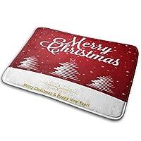 """QDYLM カーペットバスルーム滑り止めマットドアマットメリークリスマスポストカードスタイルメモリーフォームバスルームカーペット40""""x60"""" cmバスルーム用ソフトバスマット、フランネル素材"""