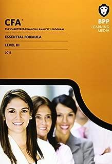 CFA Level 3: Essential Formulas by BPP Learning Media (2015-01-31)