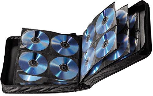 Hama CD Tasche für 208 Discs / CD / DVD / Blu-ray (Mappe zur Aufbewahrung , platzsparend für Büro, Wohnzimmer und Zuhause, Transport-Hüllen) Schwarz