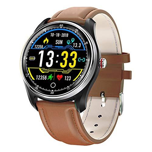 LDJ N58 ECG PPG Smart Watch con ECG Pantalla ECG Pantalla ECG Holter Tasa del Corazón Monitor De La Presión Arterial Mujer Inteligente Pulsera Inteligente para Android iOS,B
