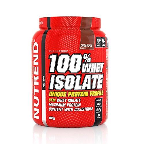 Nutrend Whey 100% Isolate Molke-Protein-Pulver Vanille 900g Diät-Gewicht-Verlust (WPI) Aminosäuren (BCAA), wenig Zucker, CFM-Methode