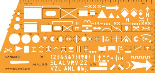 Schablone Zeichenschablone Taktische Zeichen NATO Standardisierte Truppen Waffen Militär Lagekarte Symbole 1:50000 Karte Bundeswehr Lagepläne Führungskarte