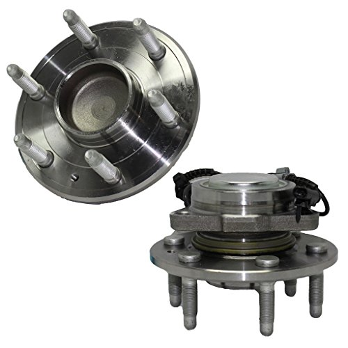Detroit Axle - 2WD Brand New Front Driver and Passenger Side Wheel Hub and Bearing Assembly for - 2WD Tahoe, Silverado 1500, Sierra 1500-6-Lug