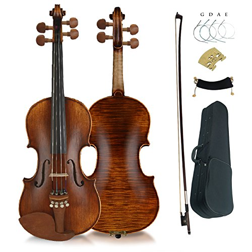 Aliyes Premium Violin 4/4 Full Size Solid Wood Violin For Beginner Violinist/Professional Student Violin Kit String,Shoulder Rest,Rosin,Bridge(YWA-2)