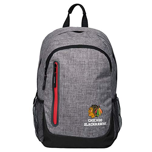 FOCO Backpack NHL Rucksack - Grey Chicago Blackhawks