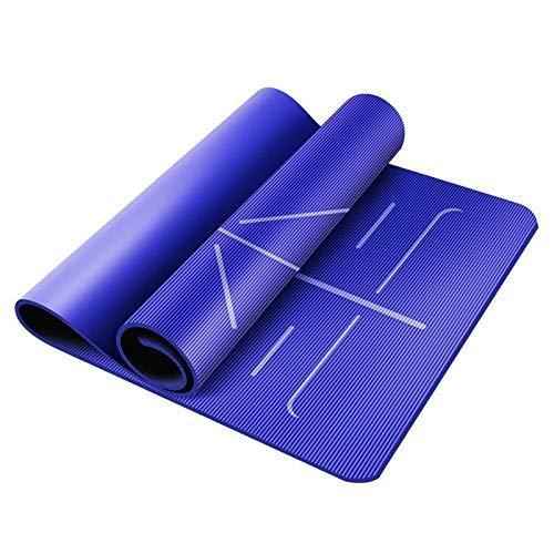 8bayfa Yoga-Matte Übung Fitness Sit-up Training Exercise Mat männliche und weibliche Assisted Anfänger Mat 2 Stärken zur Auswahl.1202 (Color : Blue, Size : 15mm)