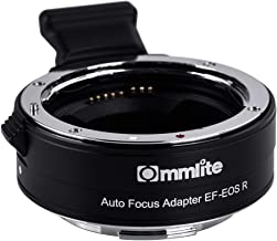Commlite CM-EF-EOS R Electronic Auto-Focus Lens Mount Adapter Fit for Canon EF/EF-S Lens to Canon EOS R Camera Body Adapter