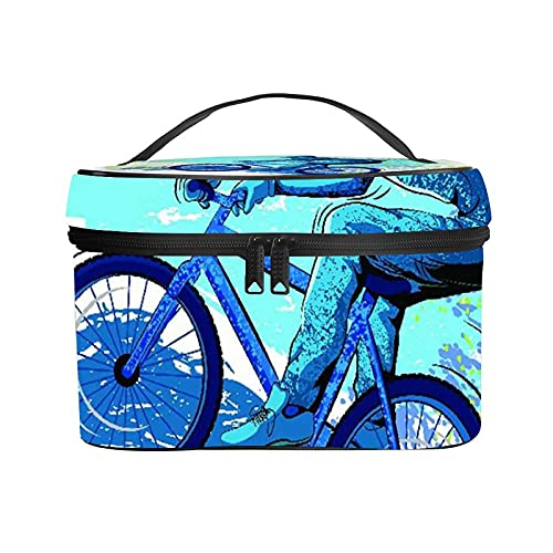 Ladies Portable Travel Cosmetic Bag,Makeup Bag,BMX of Sportsman Cycling Extreme Bike Freestyle Triathlon Bicycle Cycle Speed,Handy Toiletry Washing Bag Receiving Bag Multifunction