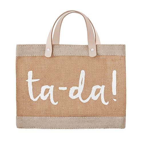 SB Design Studio - Mini borsa impermeabile in iuta, 13 x 10