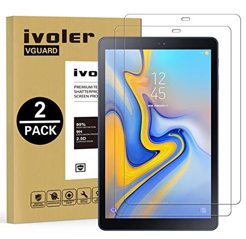 iVoler [2 Pack] Vetro Temperato Compatibile con Samsung Galaxy Tab A 10.5 Pollici 2018 (T590 / T595), Pellicola Protettiva, Protezione per Schermo