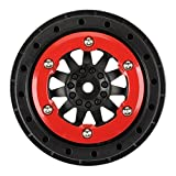 proline 750 - ProLine 274503 Protrac F-11 2.2/3.0 Red-Black Bead Loc Wheels for Pro 2 SC