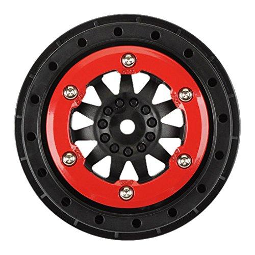 ProLine 274503 Protrac F-11 2.2/3.0 Red-Black Bead Loc Wheels for Pro 2 SC