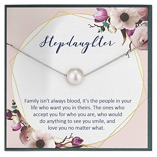 Grace of Pearl Step Daughter Gift from Stepfather Gifts for Step Daughter Quotes Jewelry Gifts Wedding