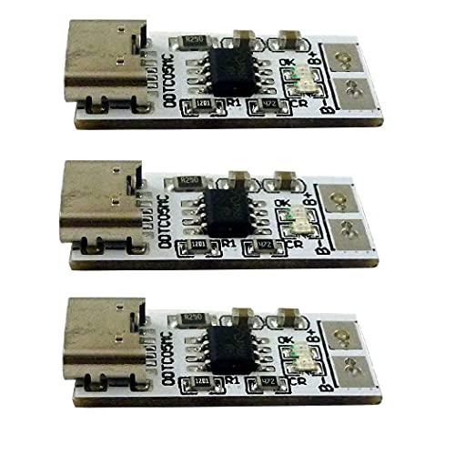Cargador reductor de iones de litio de polímero LiPo de tipo C a 4,2 V 4,35 V para batería de litio 18650 de 3,7 V 3,8 V (versión blanca de 4,35 V, 3)