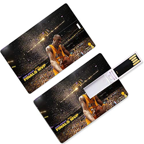 Chiavetta USB Thumb Drives Kobe Los Angeles Giocatore di basket 24 Forma di carta di credito Black Mamba Bryant Lakers Super Star Three Point Shot Top Of The Circle U Disk Memory Stick Storage Purple