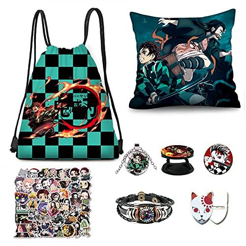ESMAN Dem-on Sla-yer Manga Merch, Gift Set for Kimetsu No Yaiba Japanese Anime Fan (DEM-ON SLA-YER LOGO)