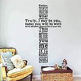 zooarts wirklich, I Say To You Kreuz Jesus Christian Abnehmbare Wand Sticker Art Decor Vinyl Aufkleber Home Zimmer Wandbild