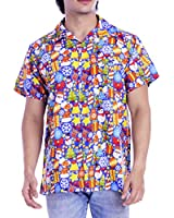 Ugly Christmas Hawaiian Shirts for Men Casual Beach Xmas1 Turquoise XXL