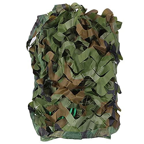 JINGJIN Camuflaje del Bosque para Acampar| Red de Camuflaje de Tela Oxford decoración para Fiestas temáticas de Coche, Cubiertas de Camuflaje para ocultarse Durante la Caza,2x4m(6.5×13ft
