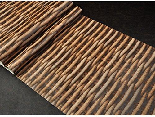 CCFENG Nachahmung Rattan Tapeten Natürliche Wind Zurück In Die Natur Retro-Persönlichkeit Dekorative Tapeten Studie Pastoralen Tapeten,01
