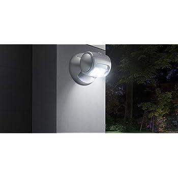 LED esterno lampada da parete Veranda Illuminazione da giardino faretti facciata continua Spot argento