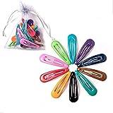 10 pinzas de pelo de 5 cm para horquillas de pelo BB color pasadores de metal para bebés, niños, mujeres, niñas, accesorios de estilo (color oscuro)