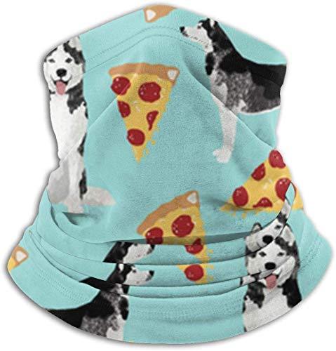 Tianjinjinmingyumaoyi Husky Pizza unisex fleece nek warmer gezicht warme nek tube nek schaar nek gaiters