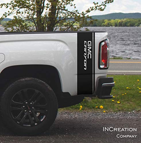 Rear Side Bed Racing Stripes Compatible with Gmc Canyon 4x4 Vinyl Stickers decals Graphics