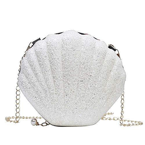 Demarkt Damen Rucksack Frauen Mode Muscheltasche Kette Schulter Messenger Bag Damentaschen Clutch Bag Umhängetasche Mini Muschel Geldbörsen