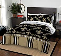 """NFL New Orleans Saints """"Rotary"""" Queen Bed In a Bag Set, purple, Queen"""