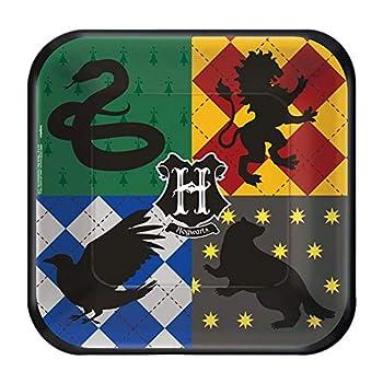 Amscan 541890 Square Plates | Harry Potter | 8 pcs | Party Accessory