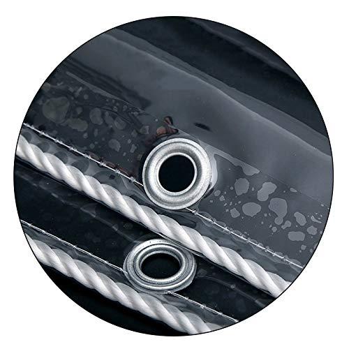 Lona Transparente Impermeable, 0,3 MM Tarea Pesada PVC Lona Transparente, Anti-envejecimiento Al Aire Libre Jardinería Cámping Hoja De Lona, Tamaño Personalizado ( Color : Clear , Size : 1.6x2m )