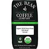 The Bean Coffee Company Organic 50/50 French Roast, 50% Decaf, Ground, 16-Ounce Bag