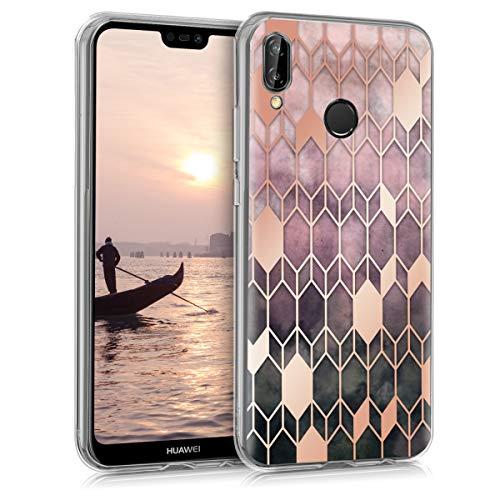 kwmobile Hülle kompatibel mit Huawei P20 Lite - Handyhülle Silikon Case - Glory Pink Rosegold