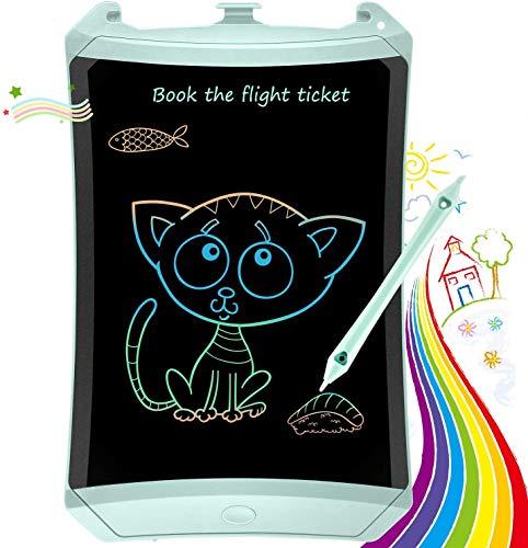 TEKFUN Tablet para niños 8.5 Pulgadas,Tableta de Escritura LCD de con Bloqueo de Pantalla borrable y función Reutilizable,Portatiles Baratos,Pizarra Luminosa niños,Juegos educativos(Green-1)